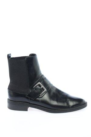 Zara Basic Sztyblety czarny W stylu casual