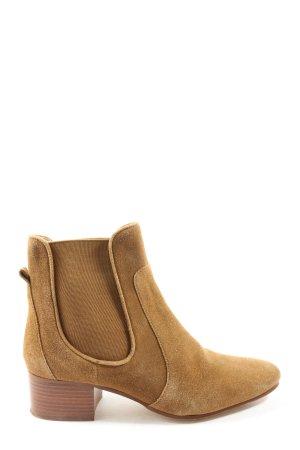 Zara Basic Chelsea Boots braun Casual-Look