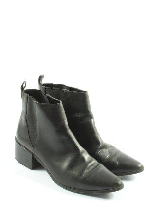 Zara Basic Chelsea Boots schwarz Business-Look