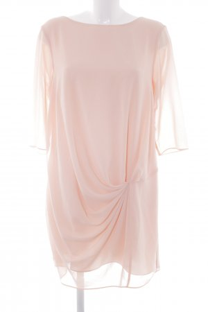 Zara Basic Chiffonkleid apricot klassischer Stil