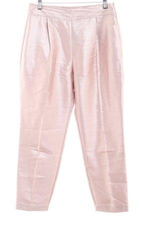 Zara Basic Chinohose roségoldfarben Glanz-Optik