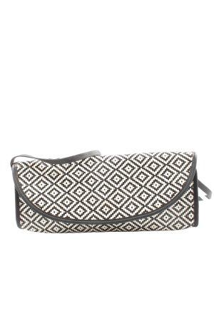 Zara Basic Clutch schwarz-weiß Allover-Druck Casual-Look