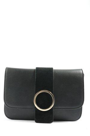Zara Basic Clutch schwarz Casual-Look