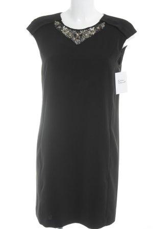Zara Basic Cocktailkleid schwarz-silberfarben Elegant