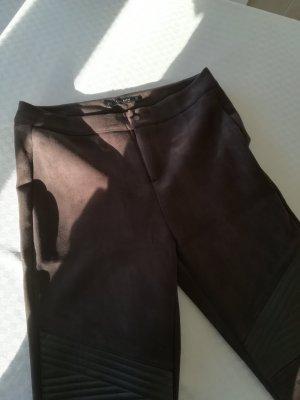Zara Basic Stretch broek donkerbruin