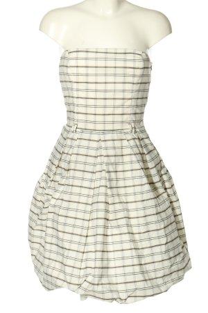 Zara Basic Corsage Dress natural white-brown check pattern casual look