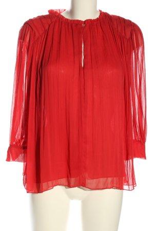 Zara Basic Kreukelblouse rood zakelijke stijl