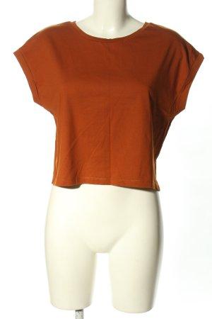 Zara Basic Cropped shirt bruin casual uitstraling