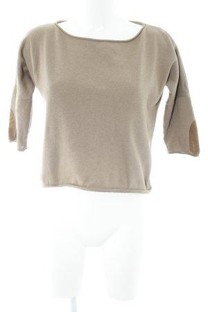 Zara Basic Cropped Shirt graubraun