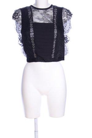 Zara Basic Cropped top zwart casual uitstraling