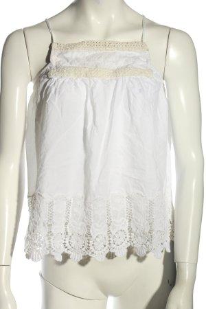 Zara Basic Cropped Top weiß Casual-Look