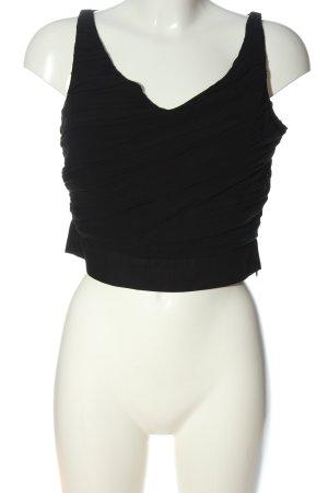 Zara Basic Cropped top zwart elegant