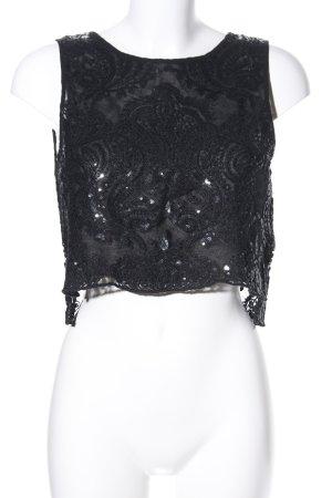 Zara Basic Cropped Top schwarz Elegant