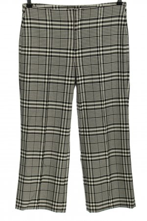 Zara Basic Culottes black-gold-colored check pattern casual look