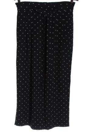 Zara Basic Culottes schwarz-weiß Punktemuster Elegant