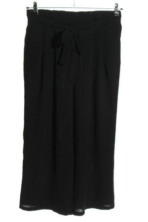 Zara Basic Falda pantalón de pernera ancha negro look casual