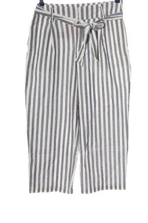 Zara Basic Culottes schwarz-weiß Streifenmuster Casual-Look