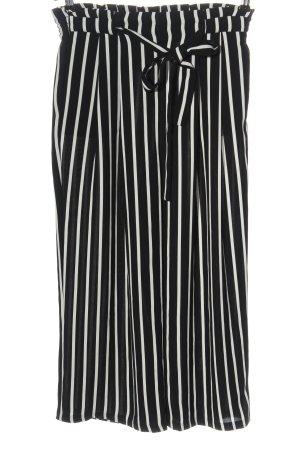 Zara Basic Culotte noir-blanc motif rayé style décontracté