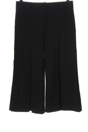 Zara Basic Falda pantalón de pernera ancha negro elegante