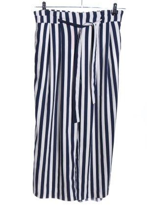 Zara Basic Culottes weiß-schwarz Streifenmuster Casual-Look