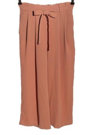 Zara Basic Falda pantalón de pernera ancha rosa look casual