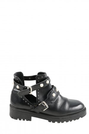Zara Basic Cut Out Booties black casual look