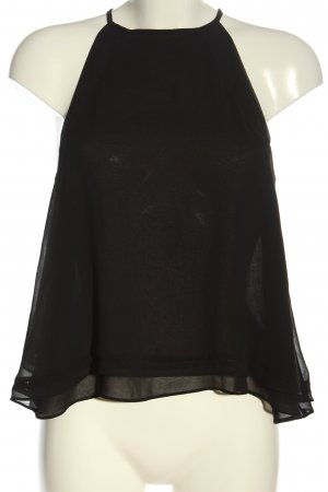Zara Basic Cut Out Top black casual look