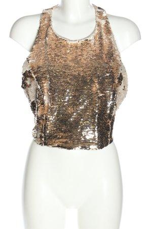 Zara Basic Haut cut-out doré style extravagant