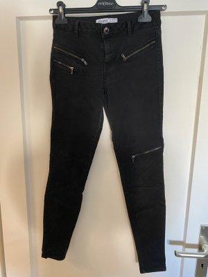 ZARA Basic Damen Jeans Gr. 34 Schwarz.
