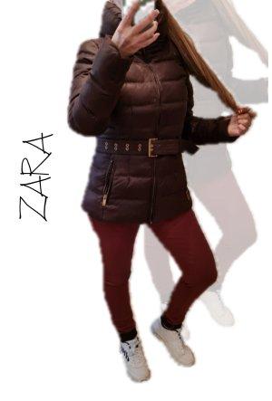 Zara Basic Doudoune brun foncé