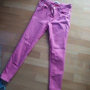 Zara Basic Denim Jeans pink gr 42 Stretch einmal getragen