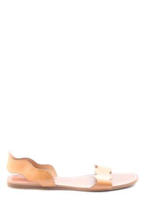 Zara Basic Sandalias romanas naranja claro look casual