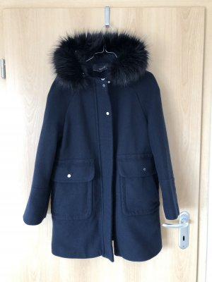Zara Basic Dufflecoat, mit 2 großen Taschen vorn und schwarzem Kunstfell