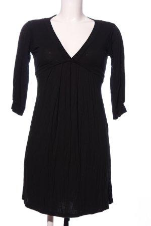 Zara Basic Empire Dress black business style