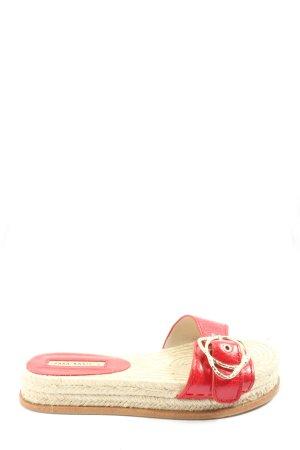Zara Basic Alpargatas rojo look casual