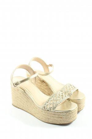 Zara Basic Espadrille doré-blanc cassé style décontracté