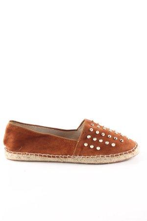Zara Basic Alpargatas marrón look casual