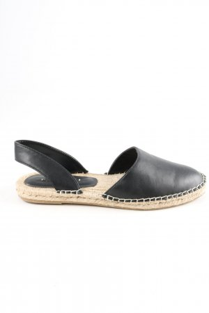 Zara Basic Espadrille sandalen zwart casual uitstraling