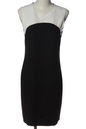 Zara Basic Etuikleid schwarz-weiß Casual-Look