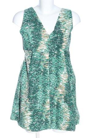 Zara Basic Etuikleid grün-wollweiß abstraktes Muster Casual-Look