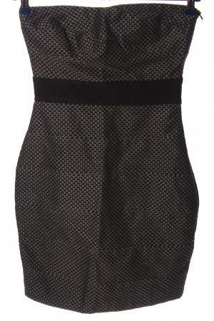Zara Basic Etuikleid schwarz-hellgrau Allover-Druck Elegant
