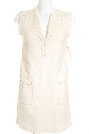 Zara Basic Etuikleid creme Casual-Look