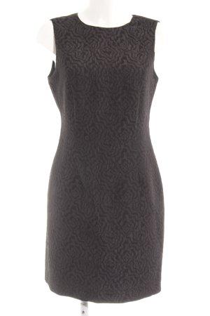 Zara Basic Etuikleid schwarz abstraktes Muster