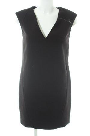 Zara Basic Etuikleid schwarz Business-Look