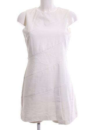 Zara Basic Etuikleid weiß Casual-Look