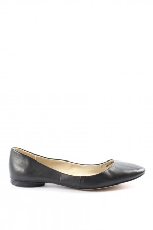 Zara Basic Ballerines pliables noir style d'affaires