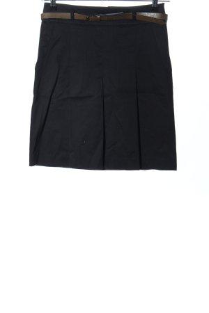 Zara Basic Faltenrock schwarz Casual-Look