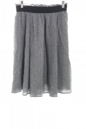 Zara Basic Plaid Skirt white-black check pattern casual look