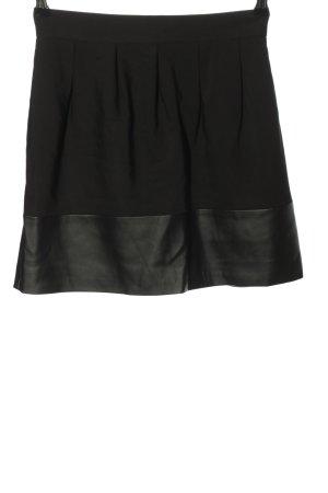 Zara Basic Plaid Skirt black casual look