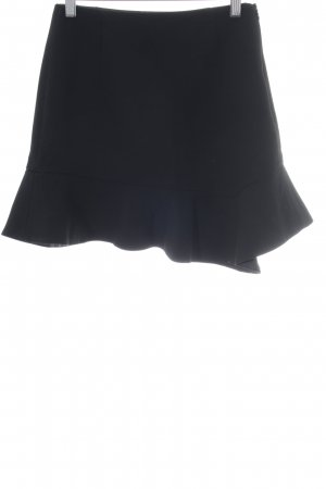 Zara Basic Plaid Skirt black elegant